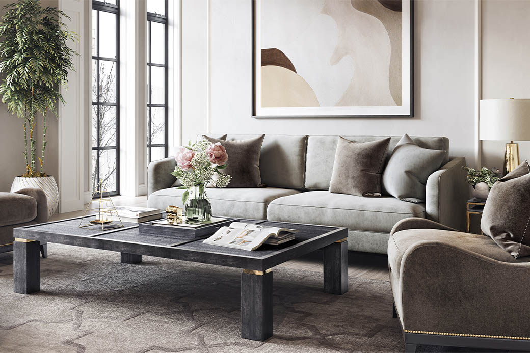 Stages of furniture rendering
