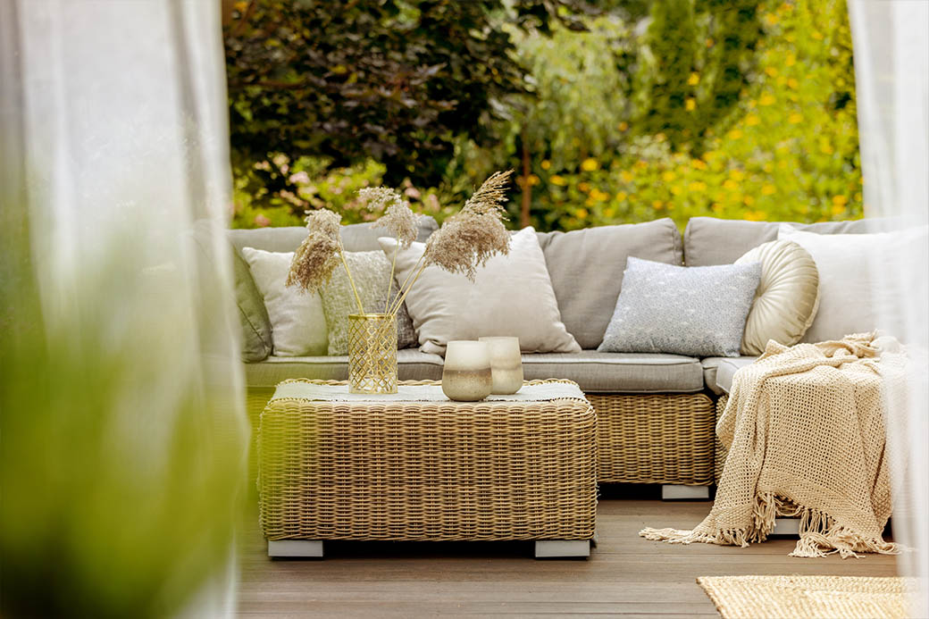 The state of porch and terrace